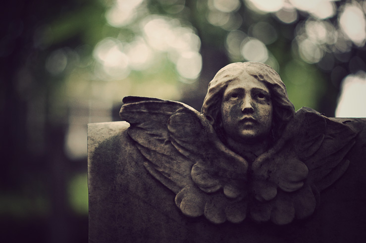 077 - angelface in cemetery
